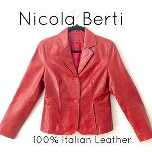 Nicola Berti 100% Italian Leather Jacket